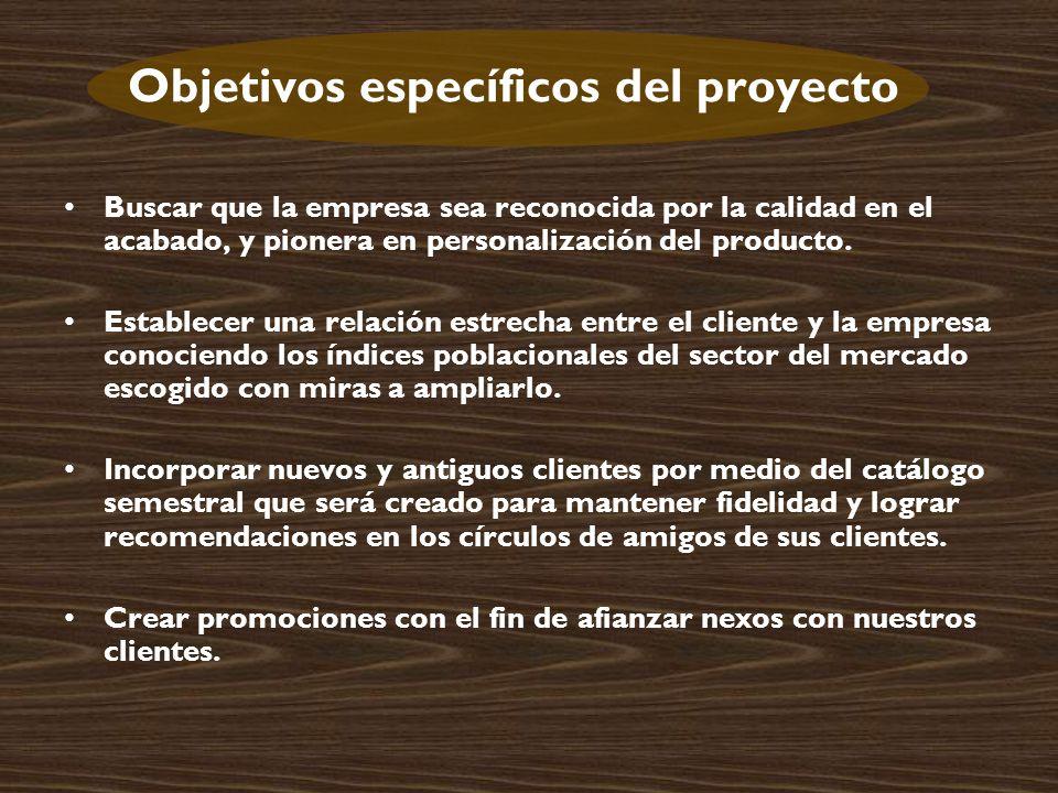 Objetivos específicos del proyecto