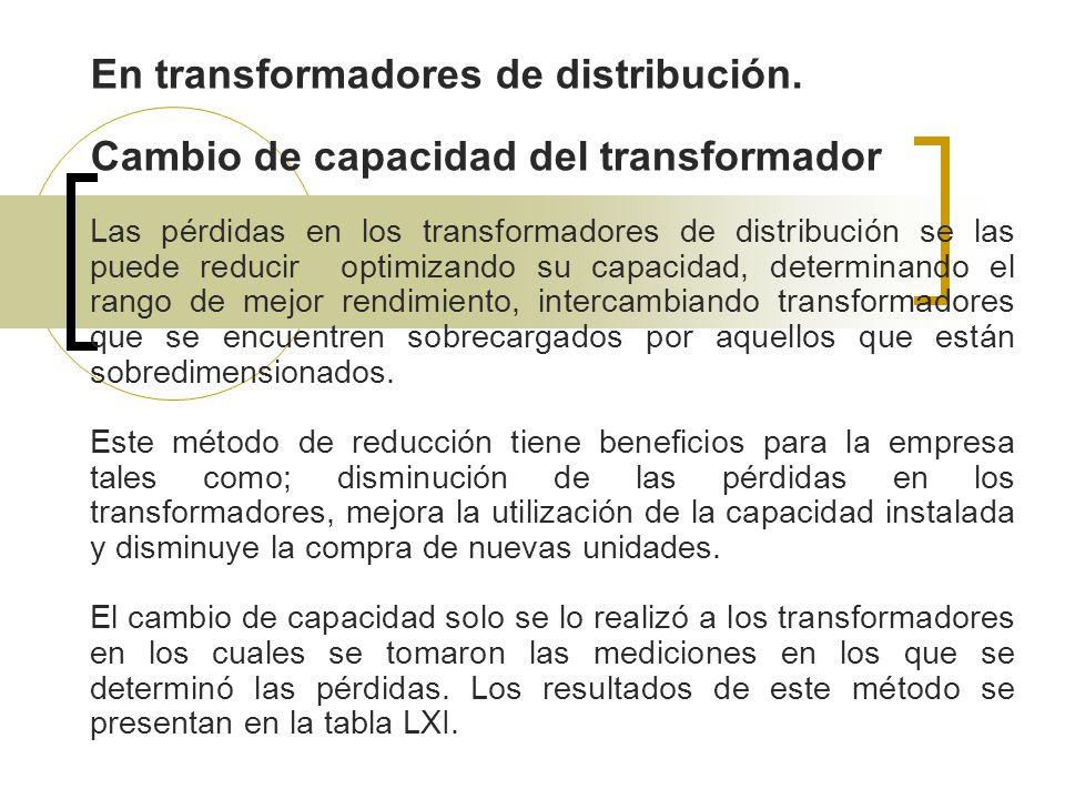 En transformadores de distribución.