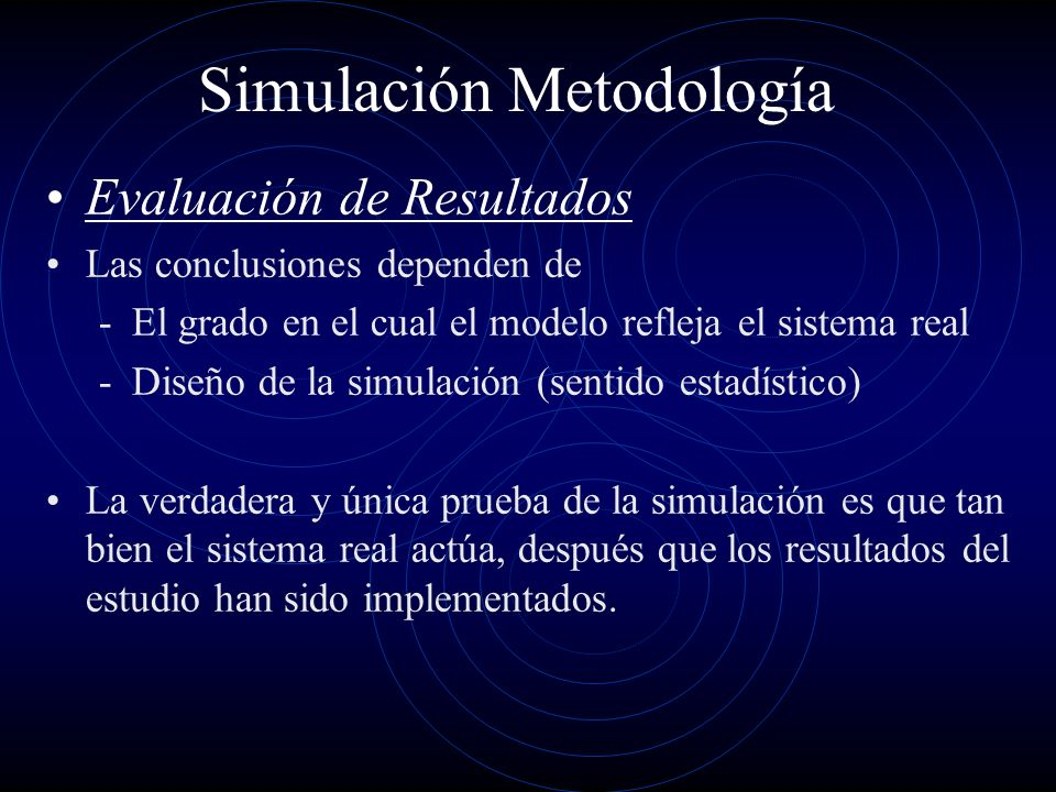 Simulación Metodología