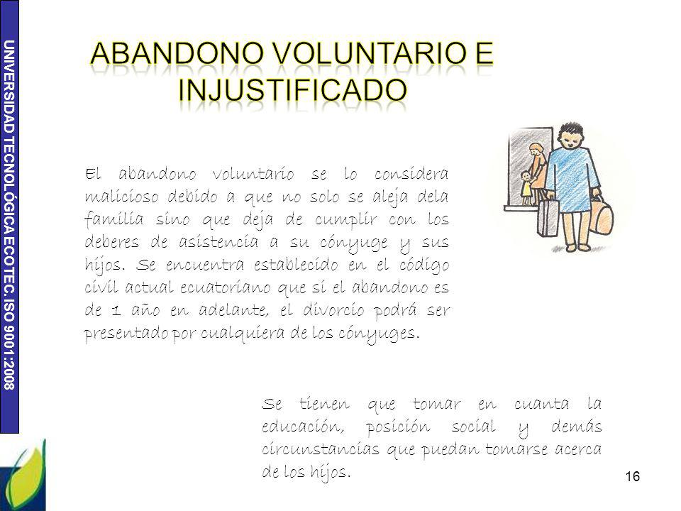 Abandono voluntario e injustificado