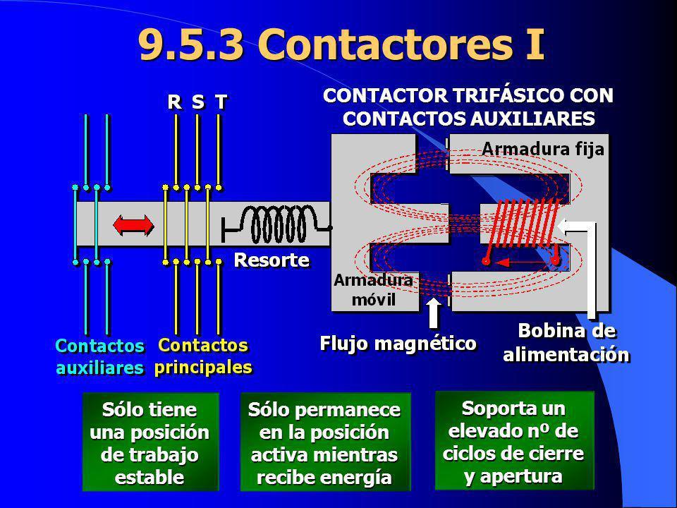 CONTACTOR TRIFÁSICO CON CONTACTOS AUXILIARES