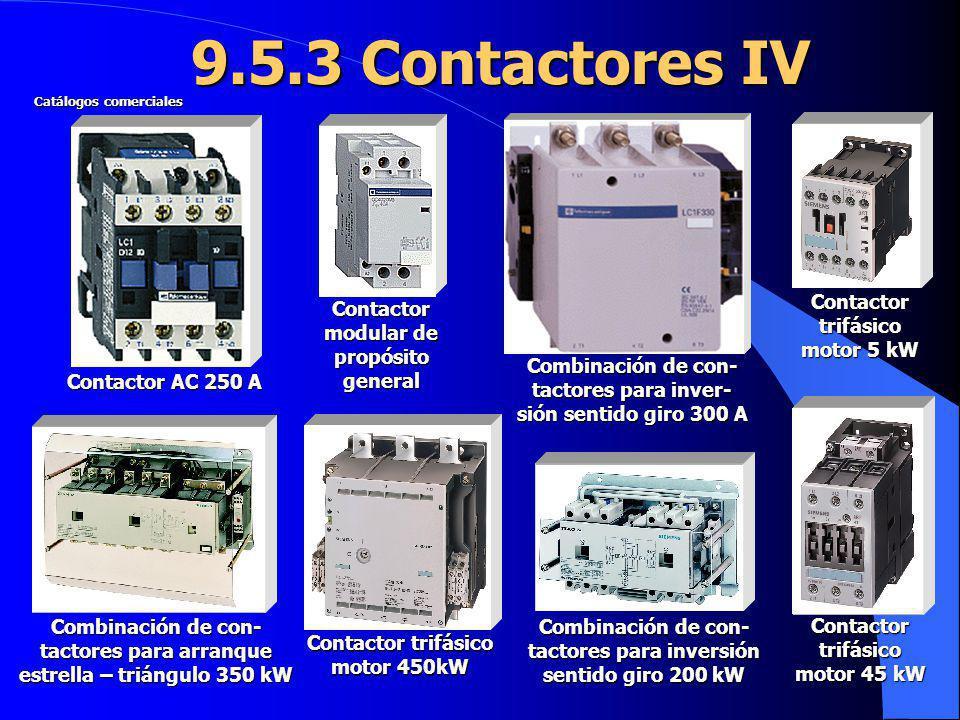 9.5.3 Contactores IV Contactor trifásico motor 5 kW