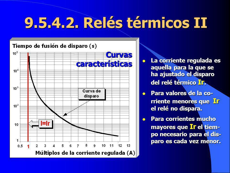 9.5.4.2. Relés térmicos II Curvas características