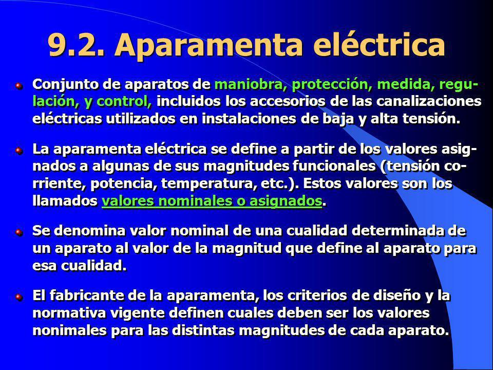 9.2. Aparamenta eléctrica