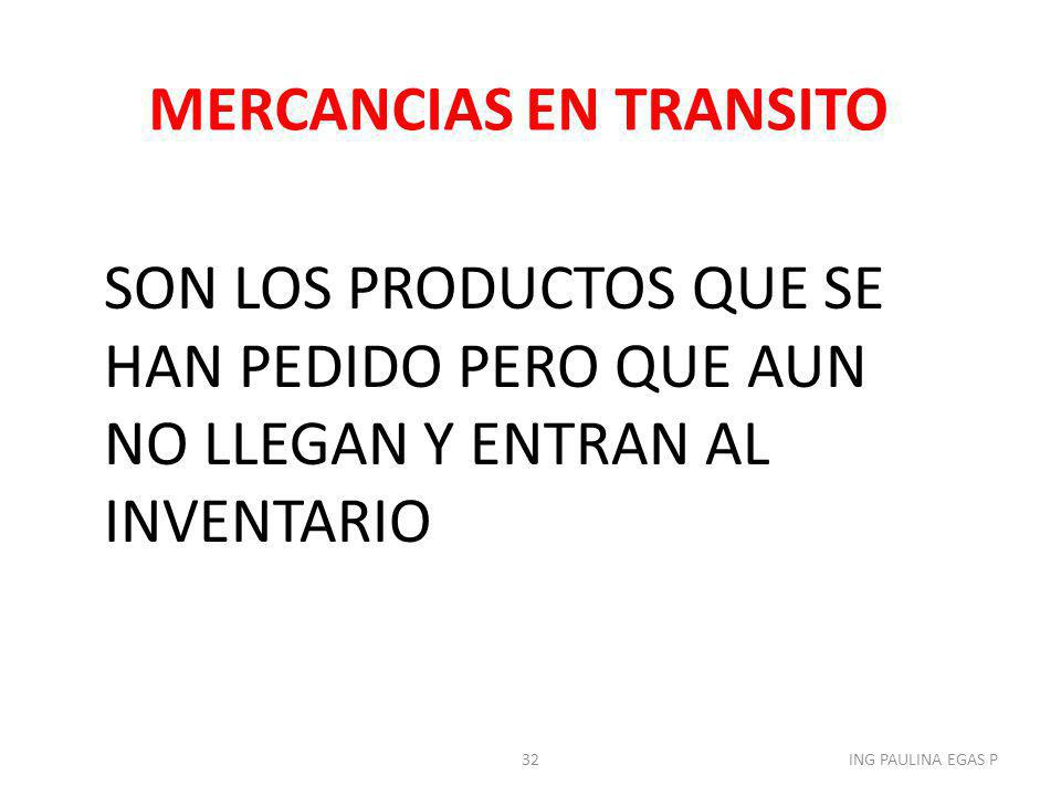 MERCANCIAS EN TRANSITO