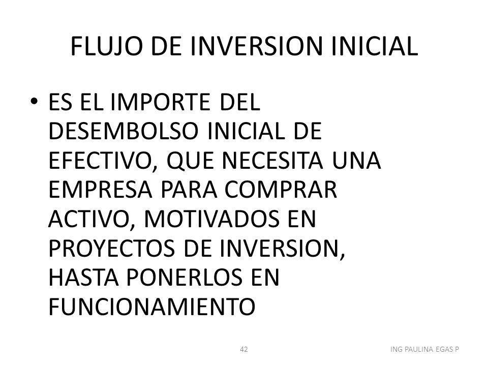 FLUJO DE INVERSION INICIAL