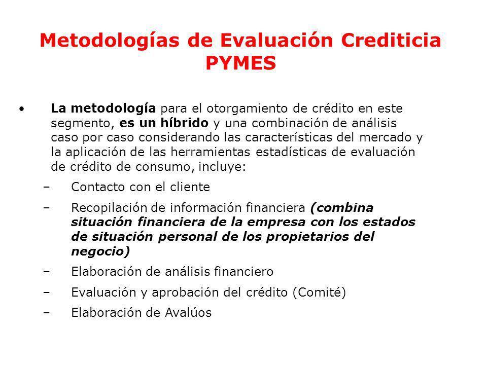 Metodologías de Evaluación Crediticia PYMES