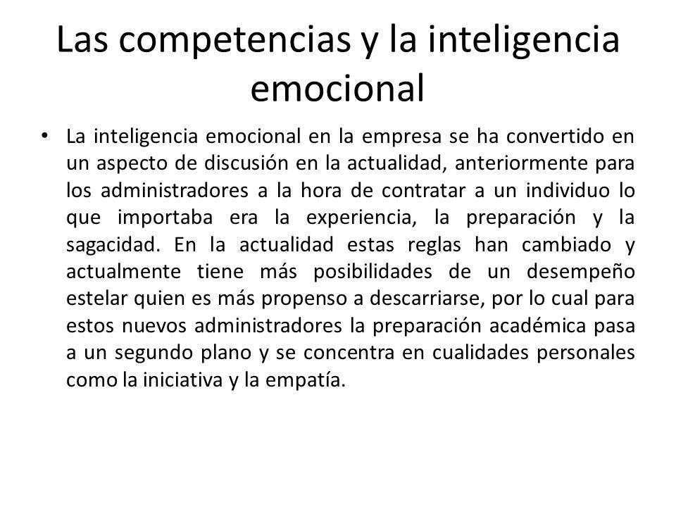 Las competencias y la inteligencia emocional
