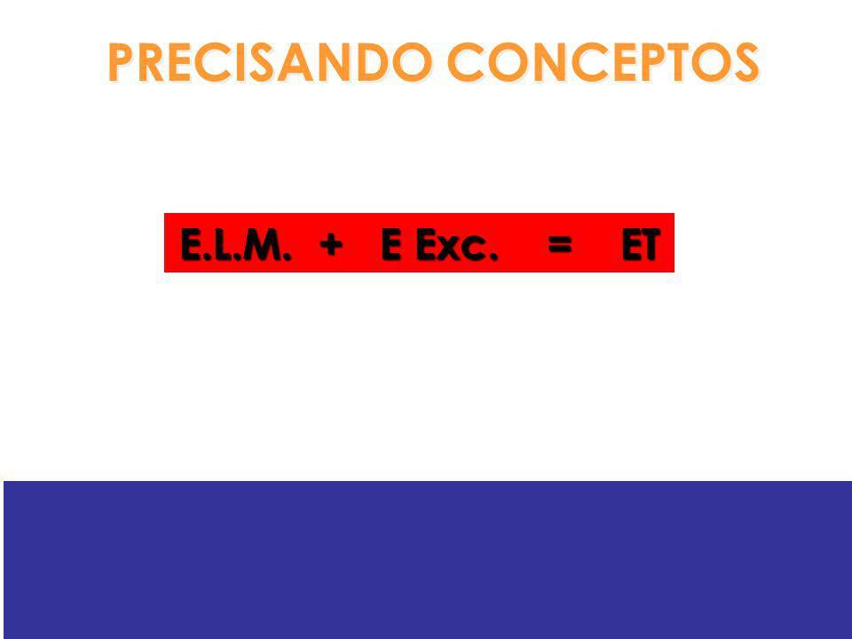 PRECISANDO CONCEPTOS E.L.M. + E Exc. = ET