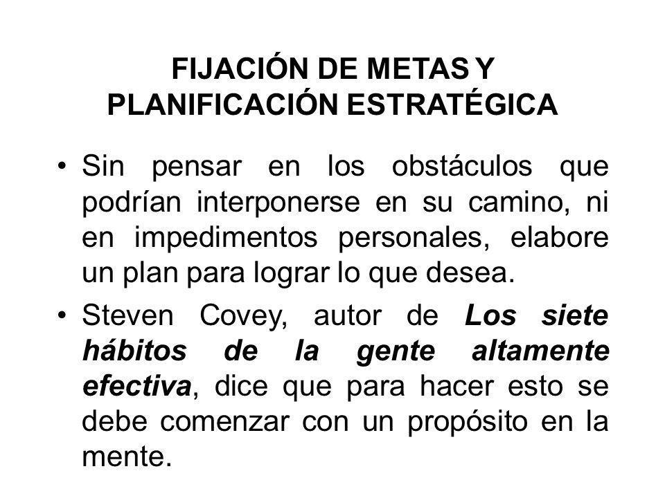 FIJACIÓN DE METAS Y PLANIFICACIÓN ESTRATÉGICA