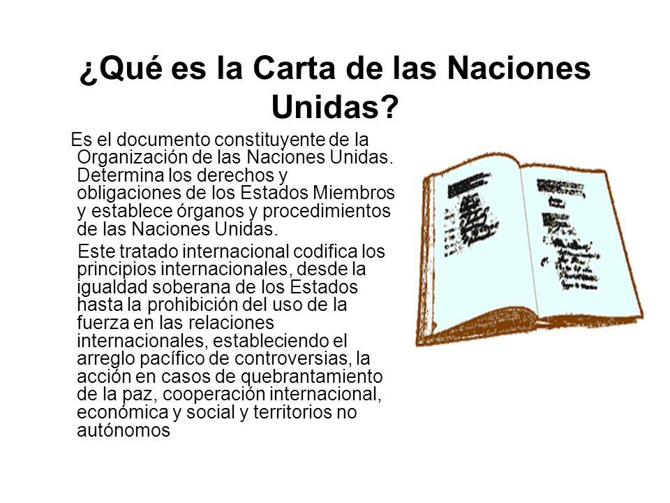 ¿Qué es la Carta de las Naciones Unidas