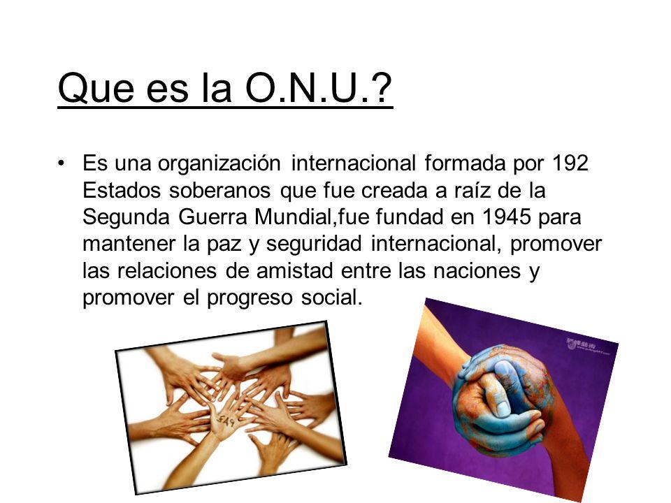 Que es la O.N.U.