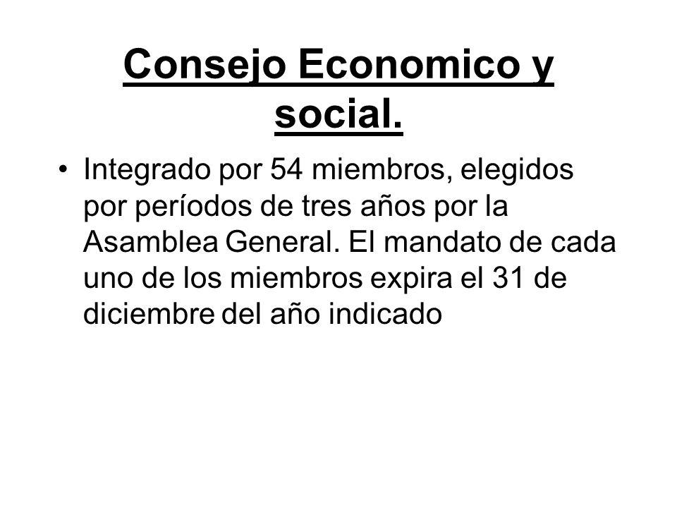 Consejo Economico y social.