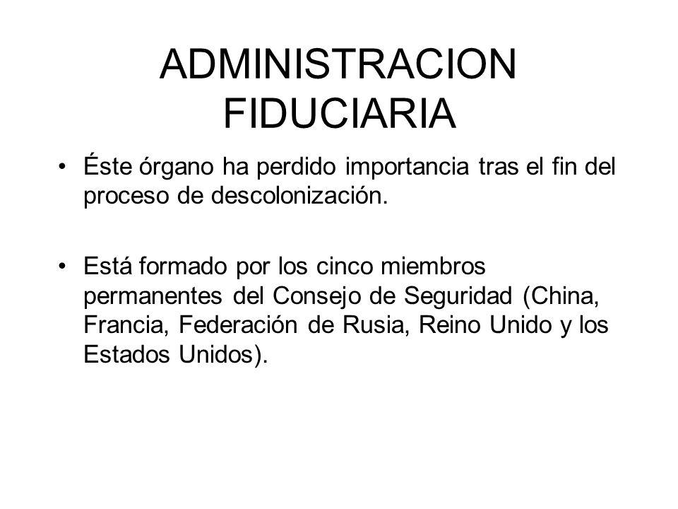 ADMINISTRACION FIDUCIARIA