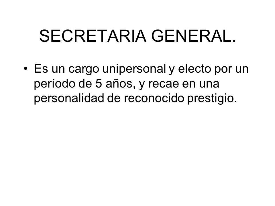 SECRETARIA GENERAL.