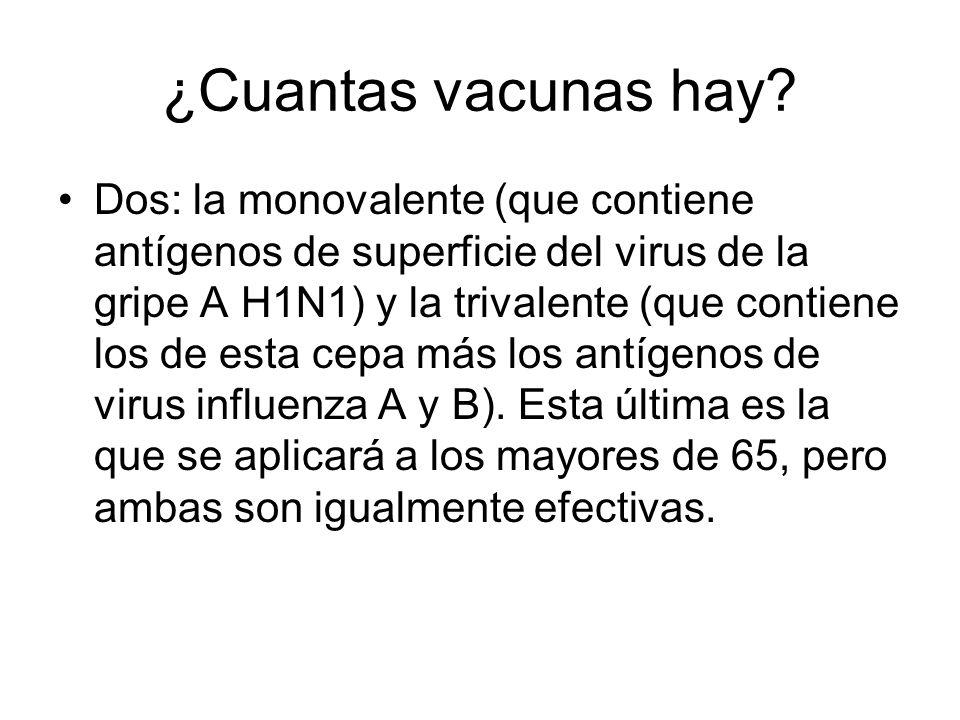 ¿Cuantas vacunas hay