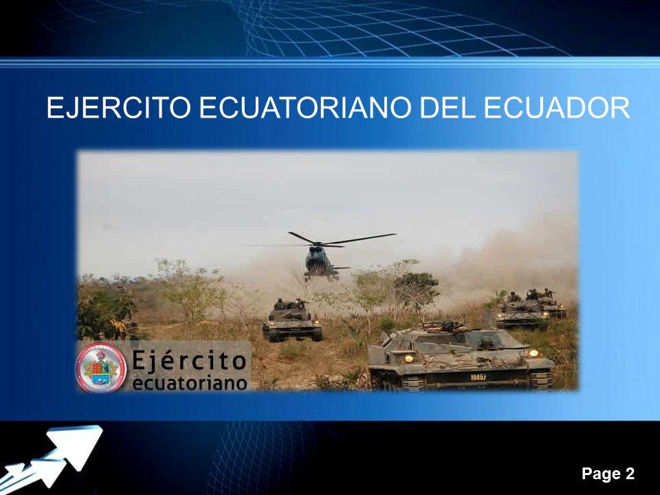 EJERCITO ECUATORIANO DEL ECUADOR