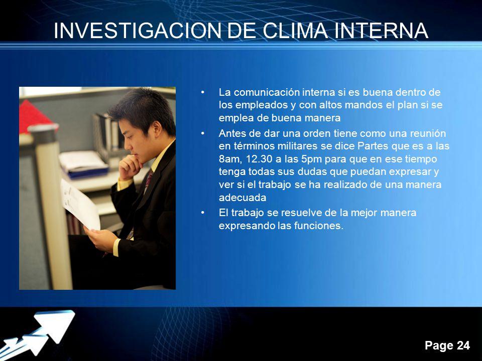 INVESTIGACION DE CLIMA INTERNA