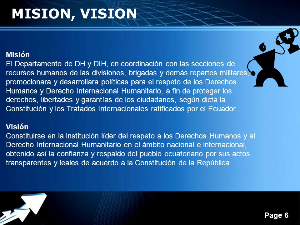 MISION, VISION Misión.
