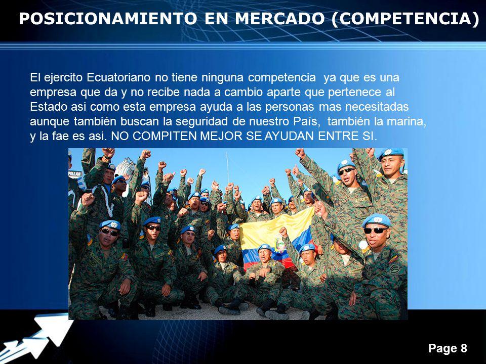 POSICIONAMIENTO EN MERCADO (COMPETENCIA)