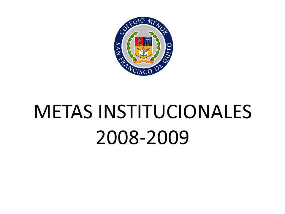 METAS INSTITUCIONALES 2008-2009