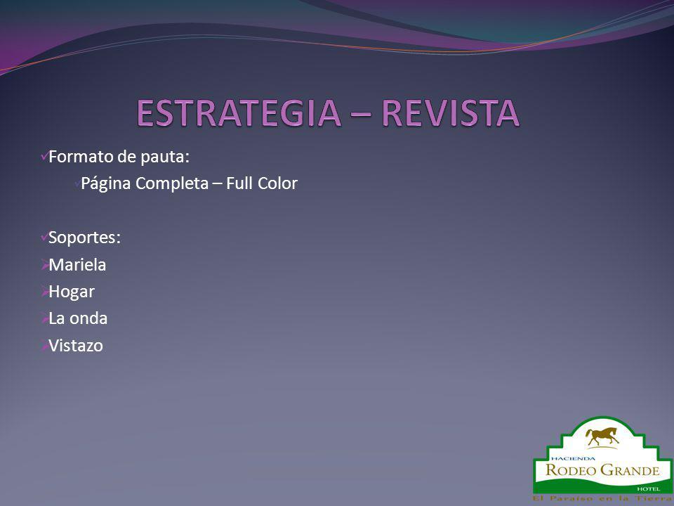 ESTRATEGIA – REVISTA Formato de pauta: Página Completa – Full Color
