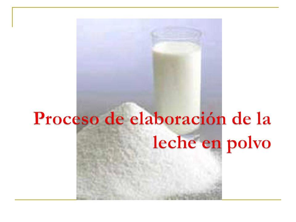 Proceso de elaboración de la leche en polvo