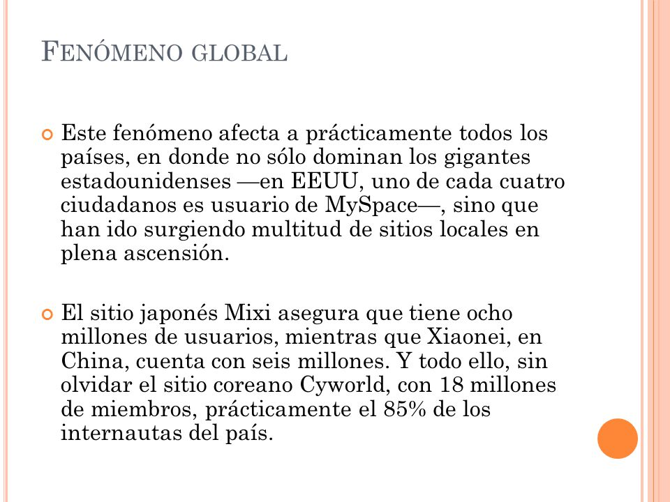 Fenómeno global