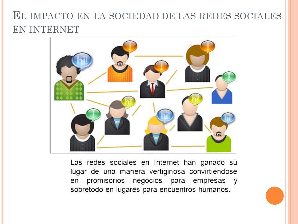 El impacto en la sociedad de las redes sociales en internet