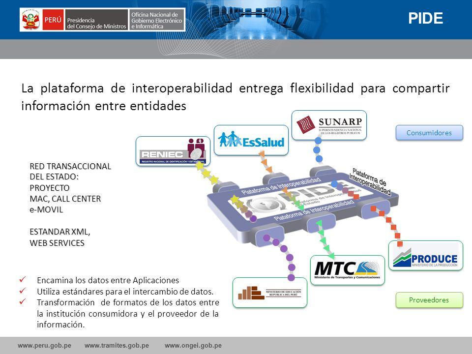 PIDE La plataforma de interoperabilidad entrega flexibilidad para compartir información entre entidades.
