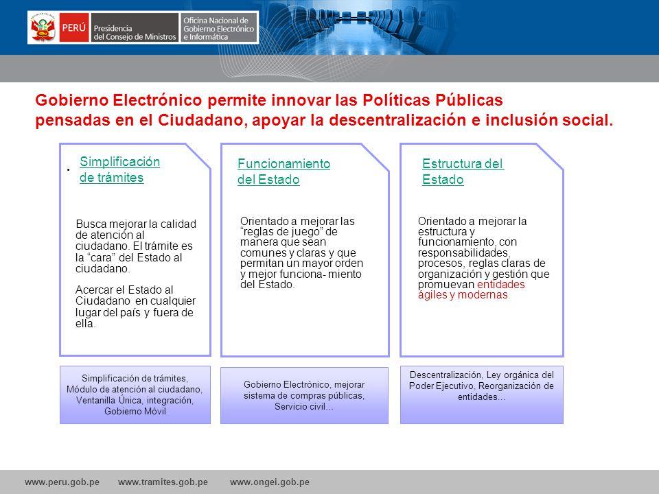 Gobierno Electrónico permite innovar las Políticas Públicas