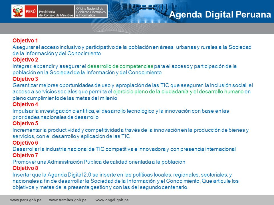 Agenda Digital Peruana