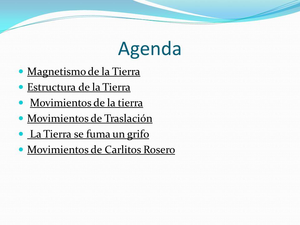 Agenda Magnetismo de la Tierra Estructura de la Tierra