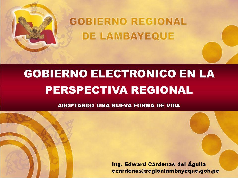 GOBIERNO ELECTRONICO EN LA PERSPECTIVA REGIONAL