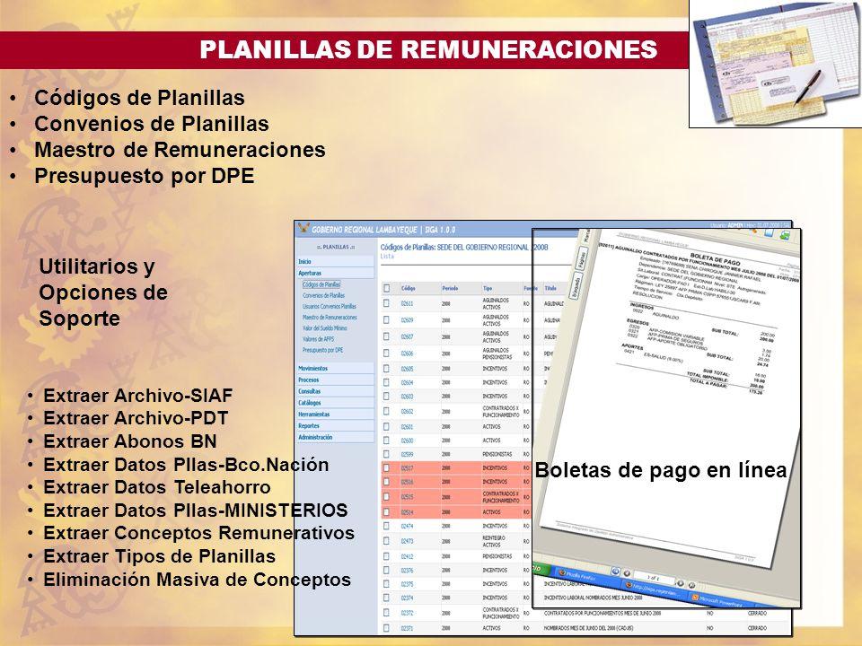 PLANILLAS DE REMUNERACIONES