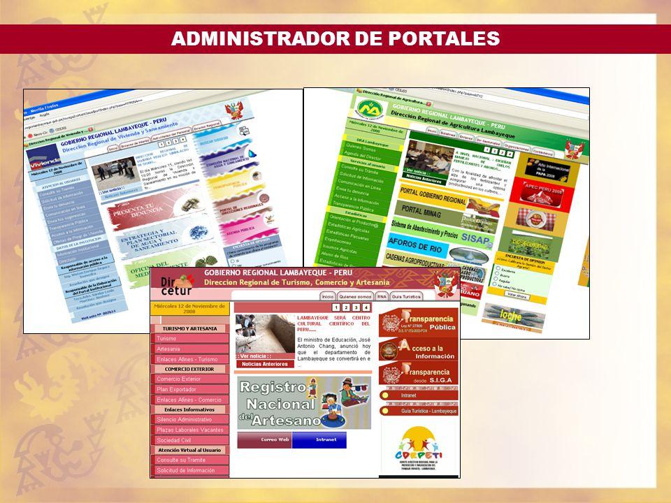 ADMINISTRADOR DE PORTALES