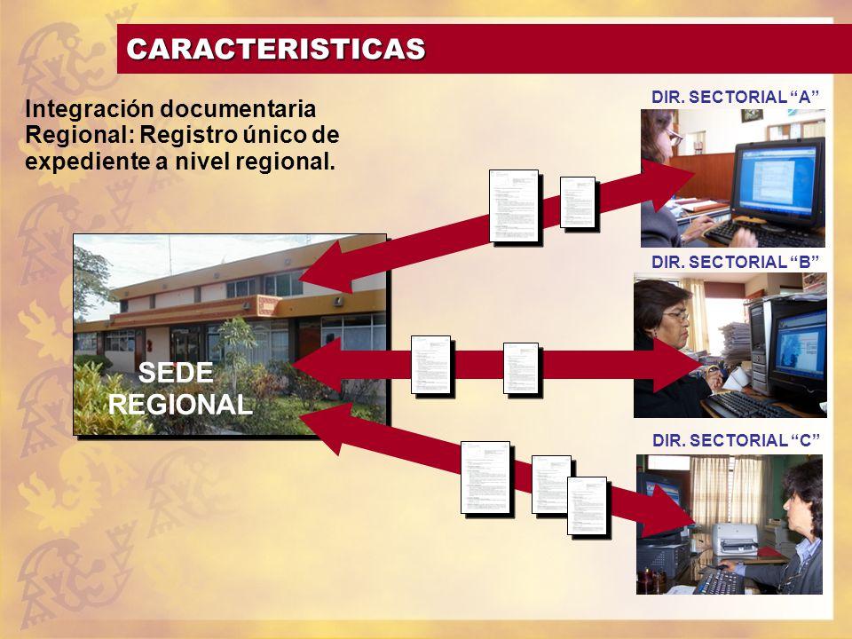 CARACTERISTICAS SEDE REGIONAL