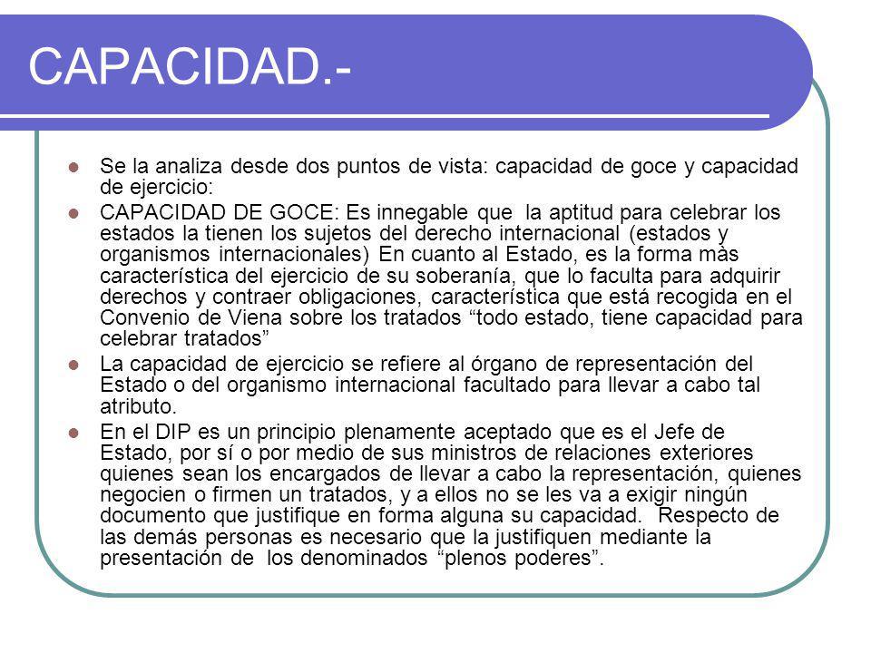 CAPACIDAD.- Se la analiza desde dos puntos de vista: capacidad de goce y capacidad de ejercicio: