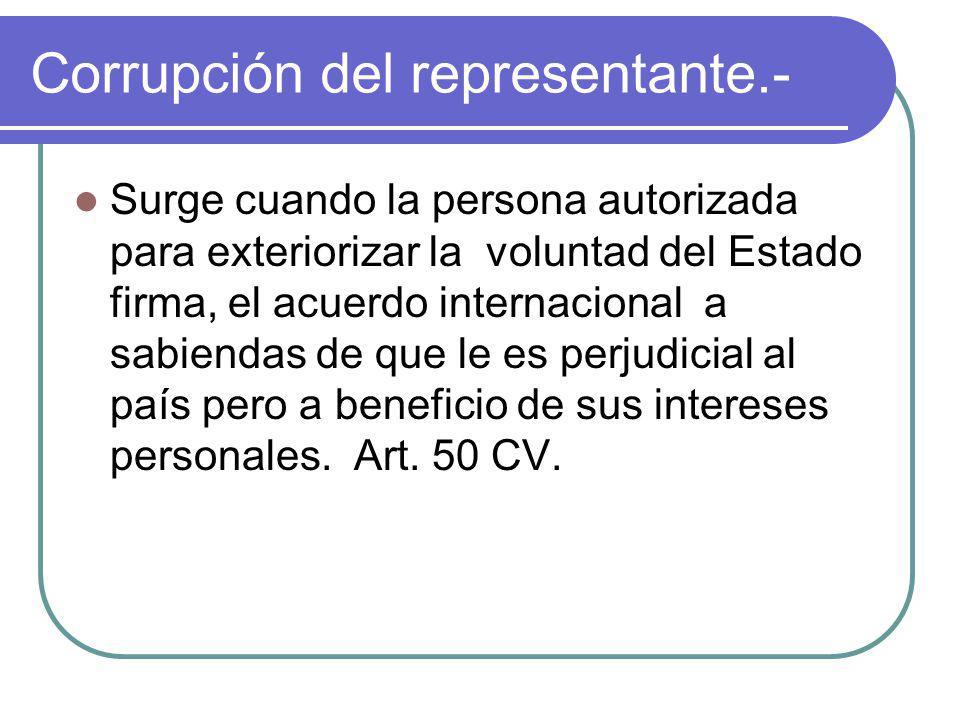 Corrupción del representante.-