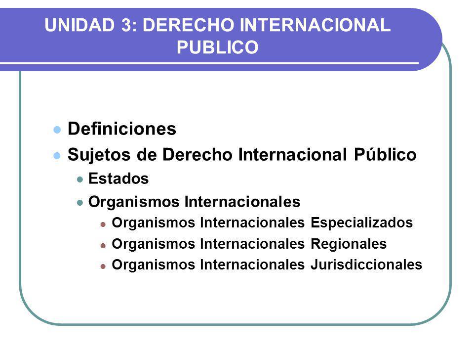 UNIDAD 3: DERECHO INTERNACIONAL PUBLICO