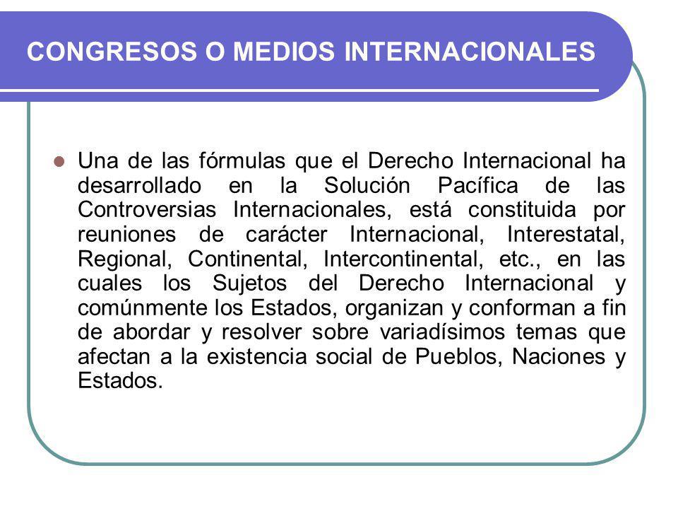 CONGRESOS O MEDIOS INTERNACIONALES