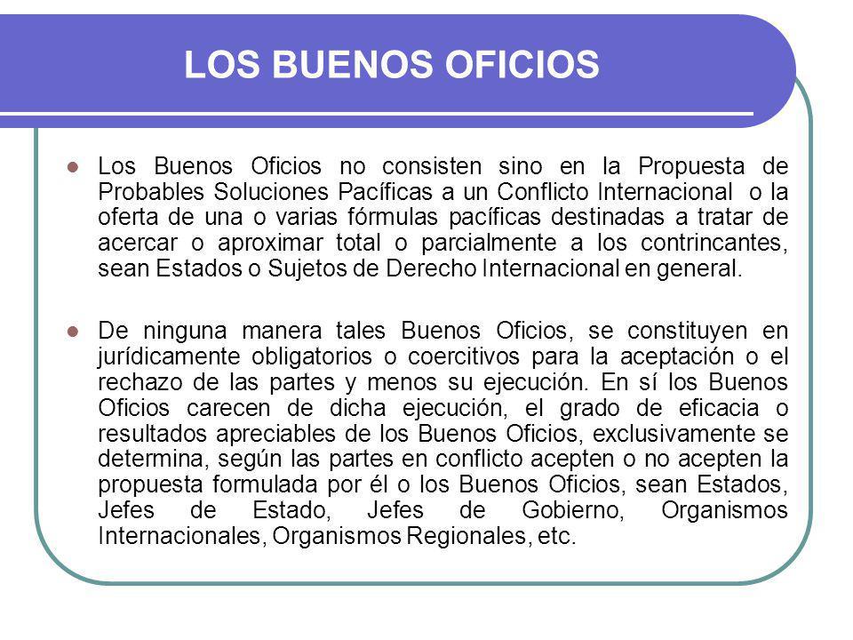 LOS BUENOS OFICIOS