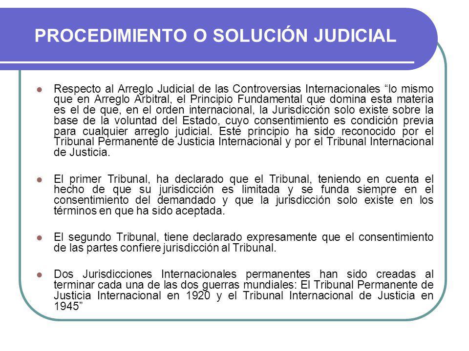 PROCEDIMIENTO O SOLUCIÓN JUDICIAL