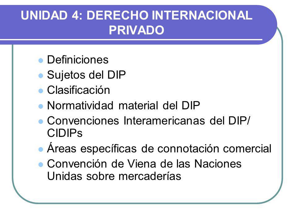 UNIDAD 4: DERECHO INTERNACIONAL PRIVADO