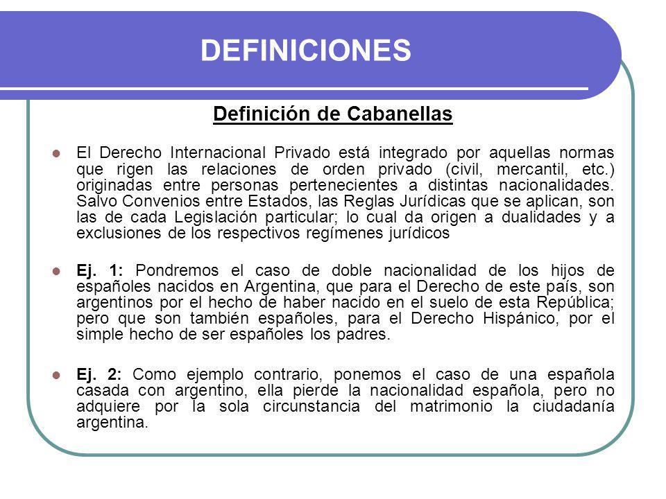 Definición de Cabanellas