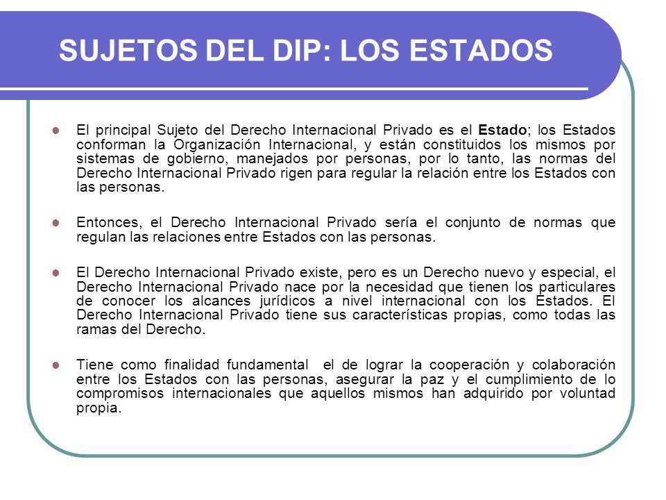 SUJETOS DEL DIP: LOS ESTADOS