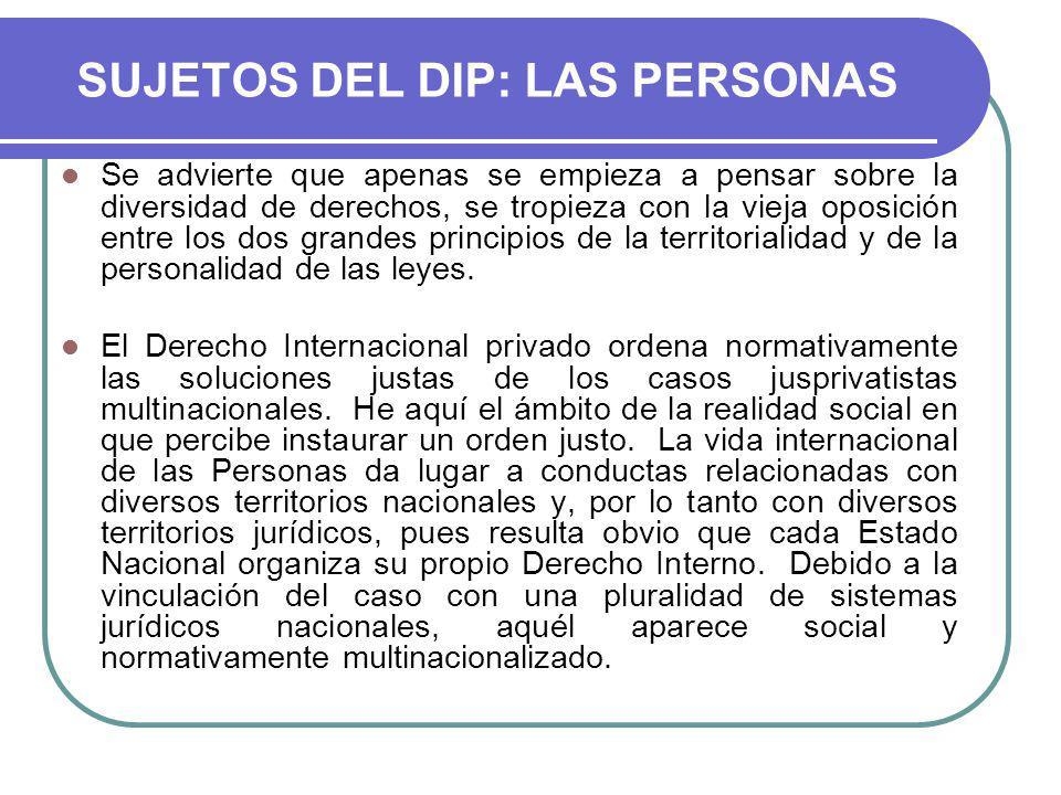 SUJETOS DEL DIP: LAS PERSONAS