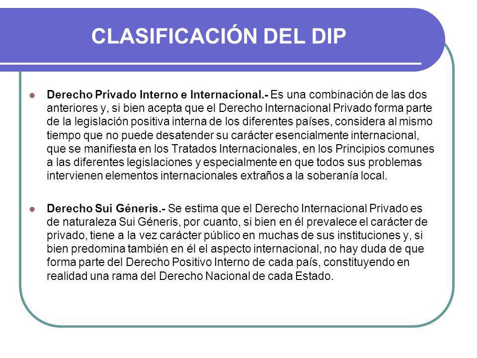 CLASIFICACIÓN DEL DIP