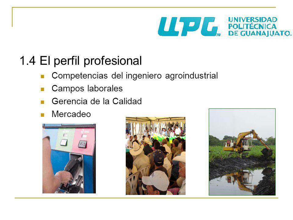 1.4 El perfil profesional Competencias del ingeniero agroindustrial