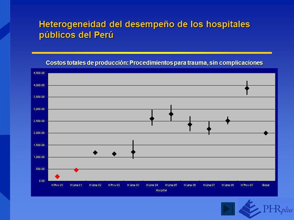 Heterogeneidad del desempeño de los hospitales públicos del Perú